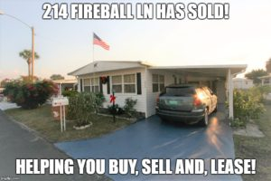214 Fireball Lane North Fort Myers FL 33903 has Sold!